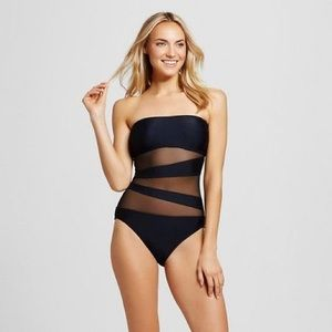 Mossimo Mesh One Piece Swimsuit